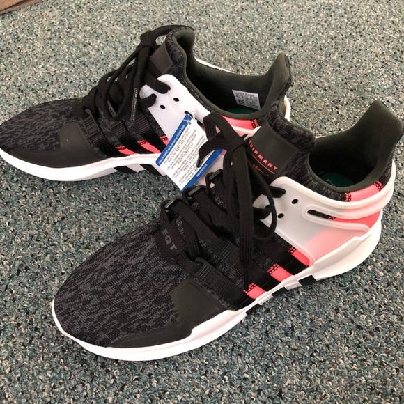eaa833ebb144 Adidas EQT support ADV Sneaker Black Salmon NWT